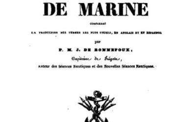 15 Jan 1834 MARITIME Dictionnaire abrégé de la Marine